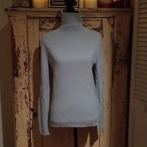 NWT Women's Talbots L Light Blue Sweater